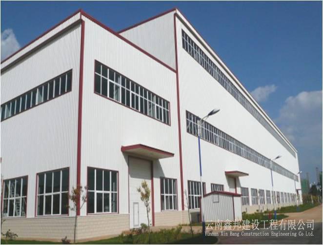 云南开关厂高压开关技改项目主厂房钢结构工程